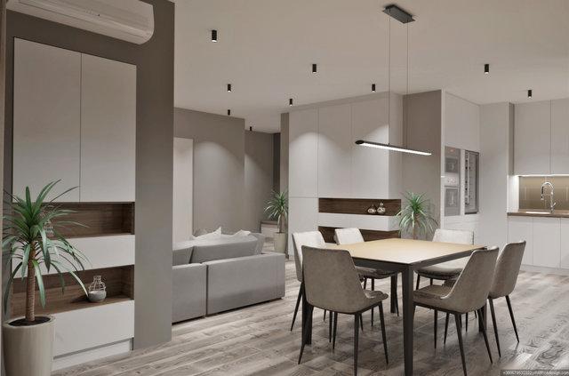 """Дизайн квартири в ЖК """"Галактика"""". Вітальня"""