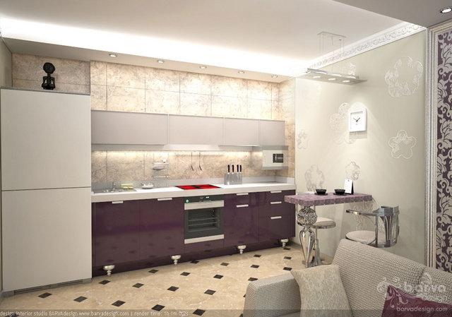 Дизайн кухни квартира в парковому