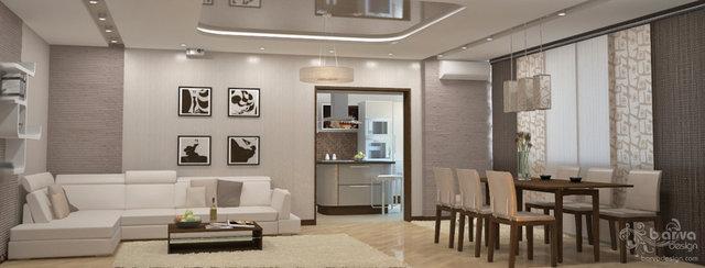 """Дизайн гостиной в ЖК """"Паркове місто"""""""