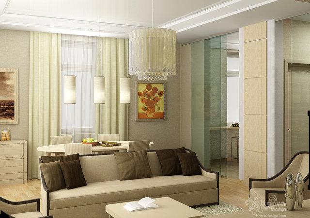 Квартира на Севастопольській площі. Дизайн вітальні