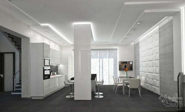 Дизайн кухни-гостиной в доме с.Старые Петровцы