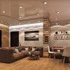 "3к-квартира ЖК ""Сонячна Брама"". Дизайн гостиной-кухни"