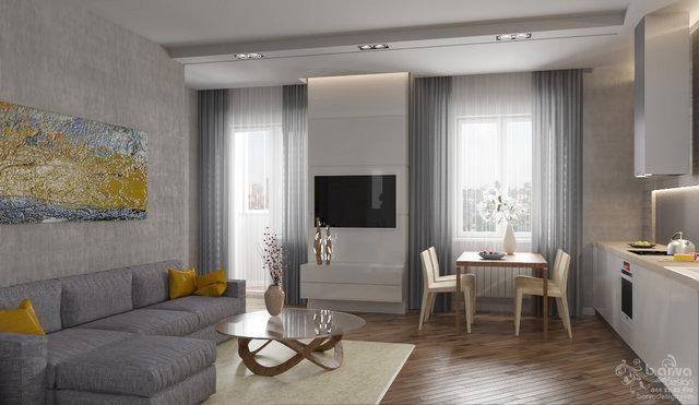 Дизайн гостиной в квартире по ул.Павловской