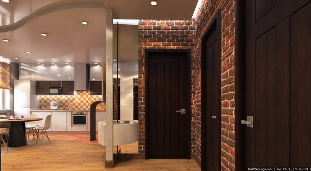 """Дизайн кухни-гостиной в 3к-квартире ЖК """"Сонячна Брама"""""""