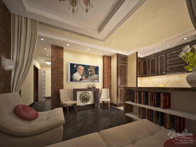 """Дизайн гостиной в стиле арт-деко. ЖК""""Зеленый остров"""""""