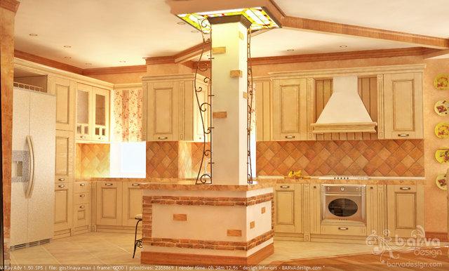 Дизайн гостиной кухни столовой в