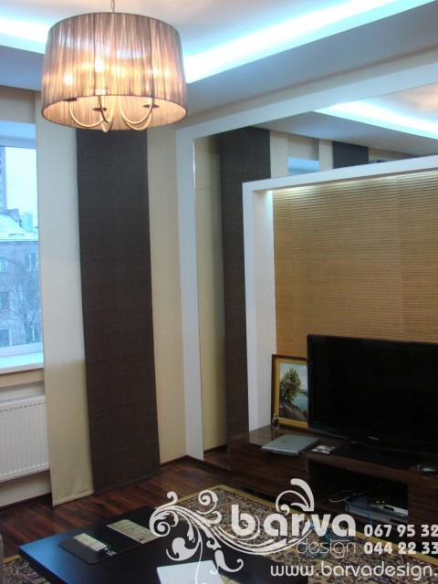 Фото вітальні після ремонту. Квартира по пр.Перемоги