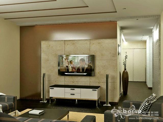 Вариант дизайна гостиной в квартире на бул.Чоколовском. Мужской интерьер