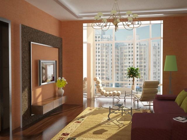 Гостиная в квартире на ул.Ломоносова