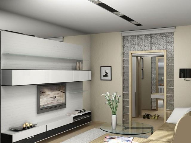 Гостиная в квартире ул.П.Мирного