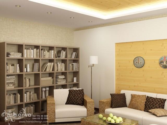 Дизайн гостиной в квартире по пр.Победы. Эко-стиль