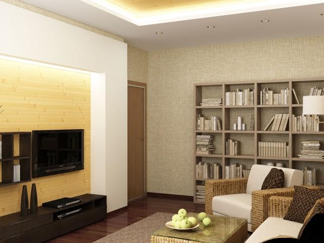 Гостиная в квартире в эко-стиле.  пр.Победы