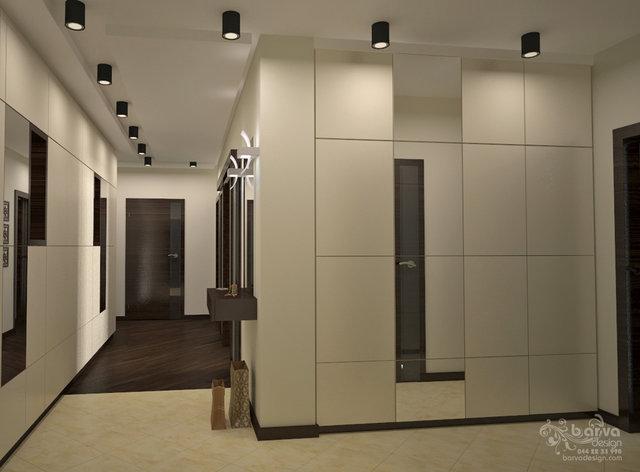 Дизайн холу в квартирі на Осокорках