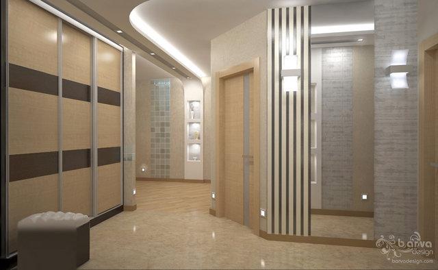 """Дизайн холла в 4-к квартире ЖК """"Паркове місто"""""""