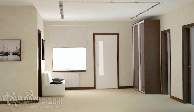 Дизайн холла 1 этажа в доме с.Коцюбинское