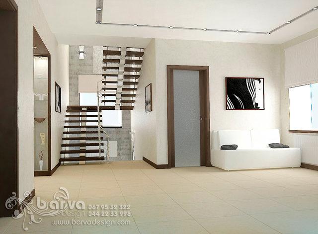 Дизайн лестницы в доме с.Коцюбинское