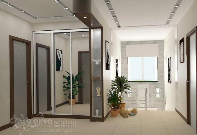 Дизайн холла 2 этажа в доме с.Коцюбинское