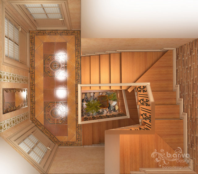 Дизайн холла в стиле прованс.3 этаж таунхауса в п.Томилино