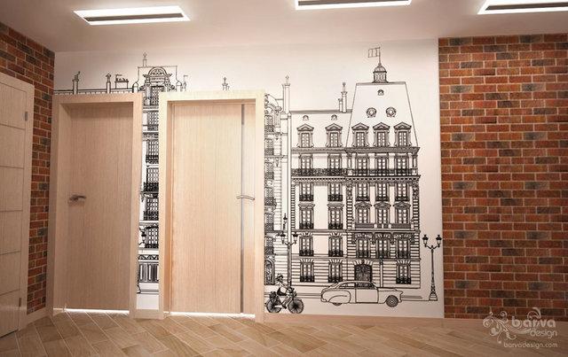 3-к квартира на Оболони. Дизайн коридора