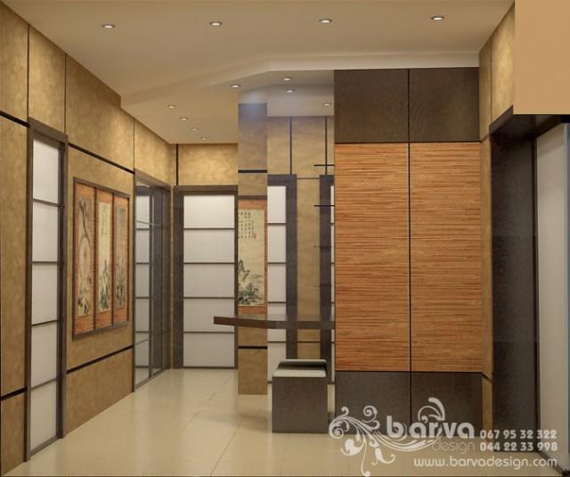 Дизайн холла в квартире на ул.Ломоносова. Яркий интерьер