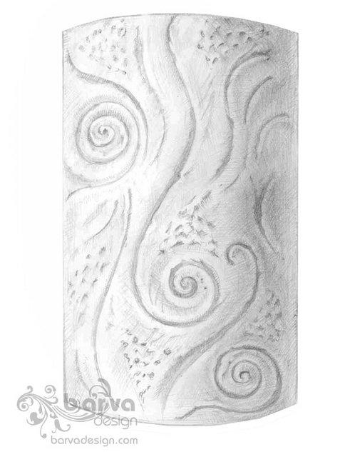 Эскиз декоративного панно на  колонну. Квартира в стиле арт-деко. пер.Ярославский