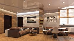 """Дизайн гостиной в 3к-квартире ЖК """"Сонячна Брама"""""""