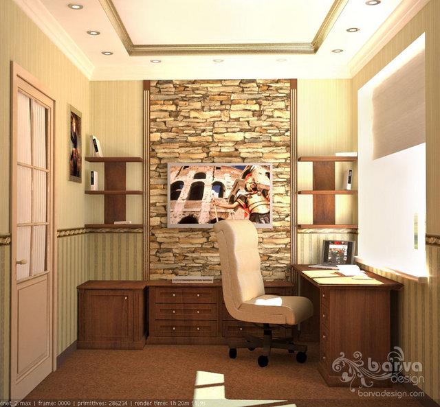 Дизайн кабинета в стиле прованс.3 этаж таунхауса в п.Томилино