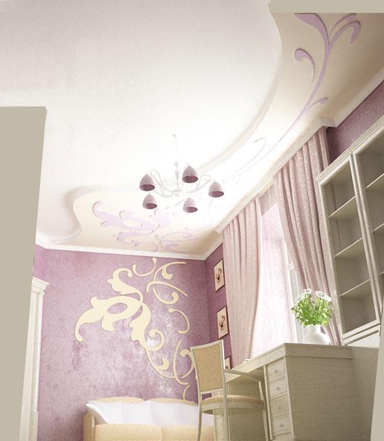 Дизайн потолка кабинета в квартире на ул.Круглоуниверситетской