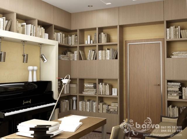 Дизайн кабинета в квартире по пр.Победы. Эко-стиль