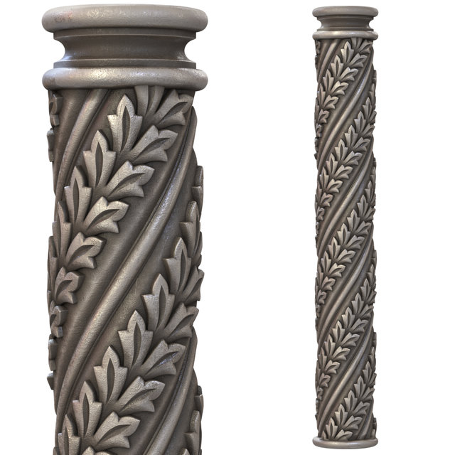 кручена колона з декором