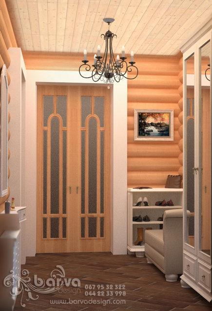 Прихожая в деревянном доме в стиле прованс. с. Хотив