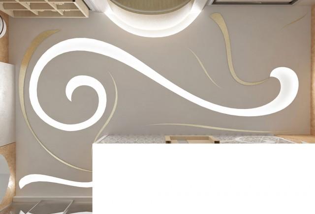 Дизайн стелі в квартирі на пр.Бажана