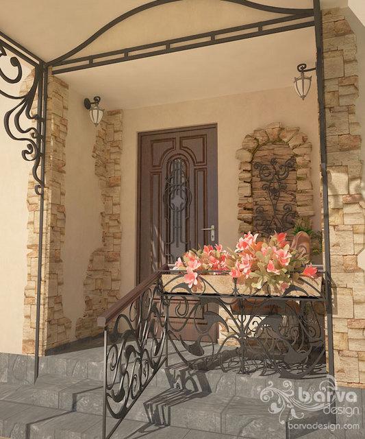 Интерьер жилого дома Галерея 3dddru: Фото Дизайн Крыльца Дома