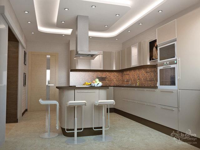 """Дизайн кухни в 4-комнатной квартире ЖК """"Парковве місто"""""""