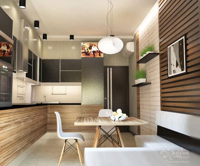 Интерьер для молодой семьи. Дизайн кухни