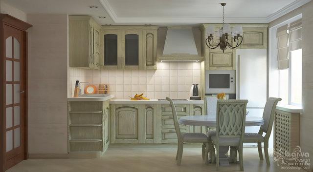 Современный классический интерьер. Дизайн кухни