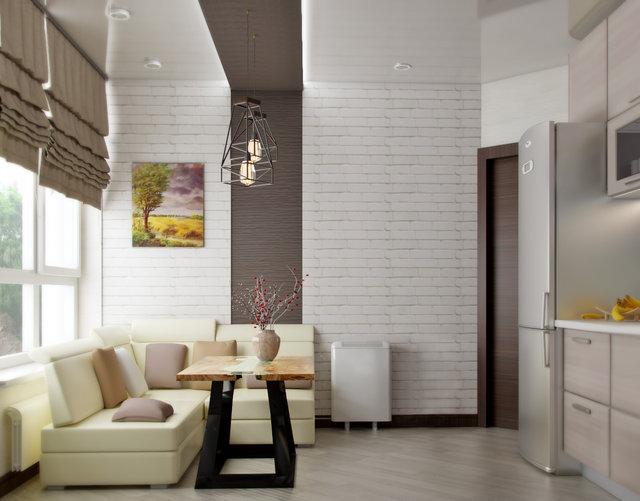 "1-к квартира в ЖК ""ПаркЛенд"". Дизайн кухні"