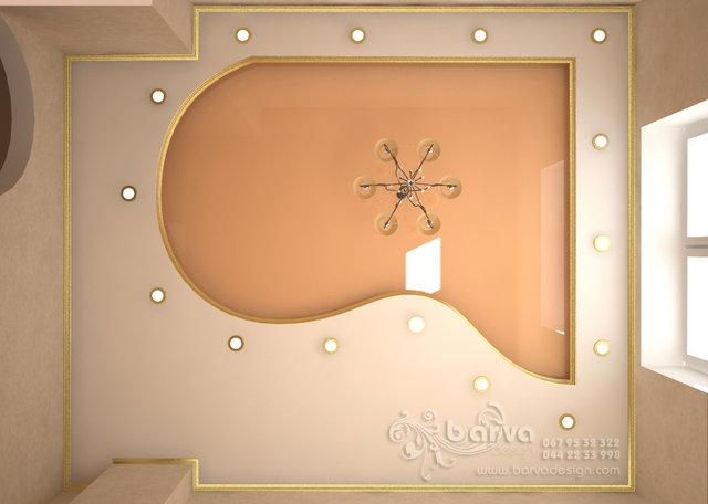 Потолок в кухне,  квартира по пр. Героев Сталинграда.   Утвержденный  вариант разработки.