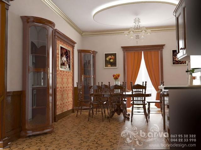 Дизайн кухни в доме в с.Крюковщина