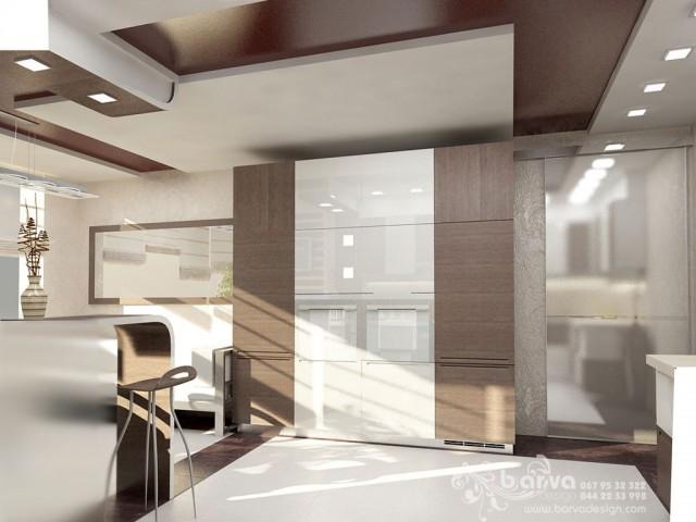 Вариант дизайна кухни квартира в