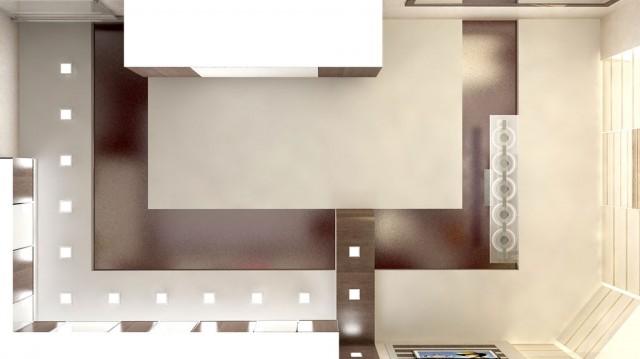 Дизайн потолка кухни в квартире на пр.Бажана