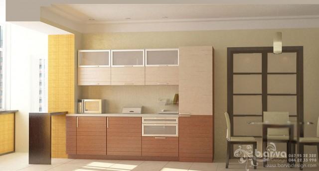 Квартира на вул.Ломоносова. Дизайн кухні-їдальні