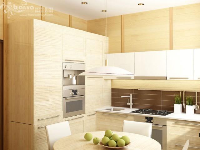 Дизайн кухни в квартире по пр.Победы. Эко-стиль