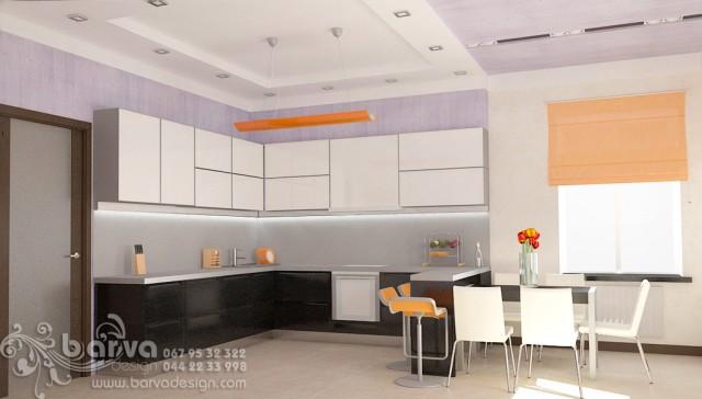 Дизайн кухни в доме с.Коцюбинкое