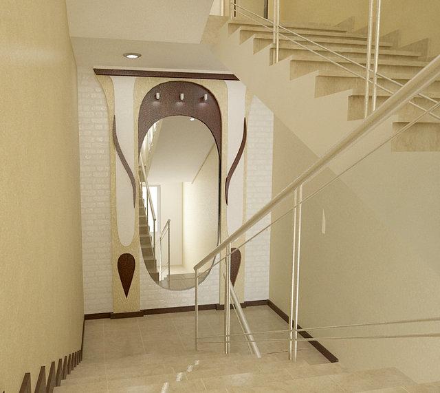 Дизайн лестницы в офисе