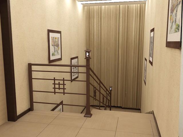 Дизайн лестницы в коттедже в Днепре