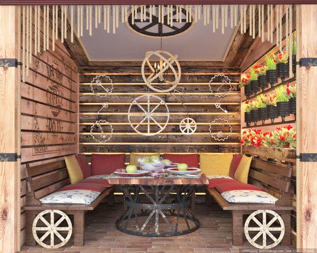 Дизайн ресторану в стилі стімпанк. Літній майданчик