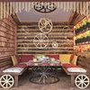 Дизайн ресторану в стилі стімпанк. Кабінет. Літній майданчик