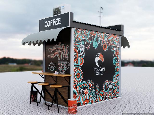 "Дизайн МАФу ""Toucan cofee"" на вул.Павлівській"