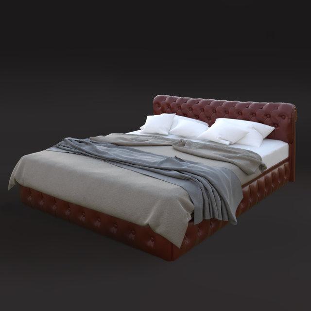 3d модель ліжка